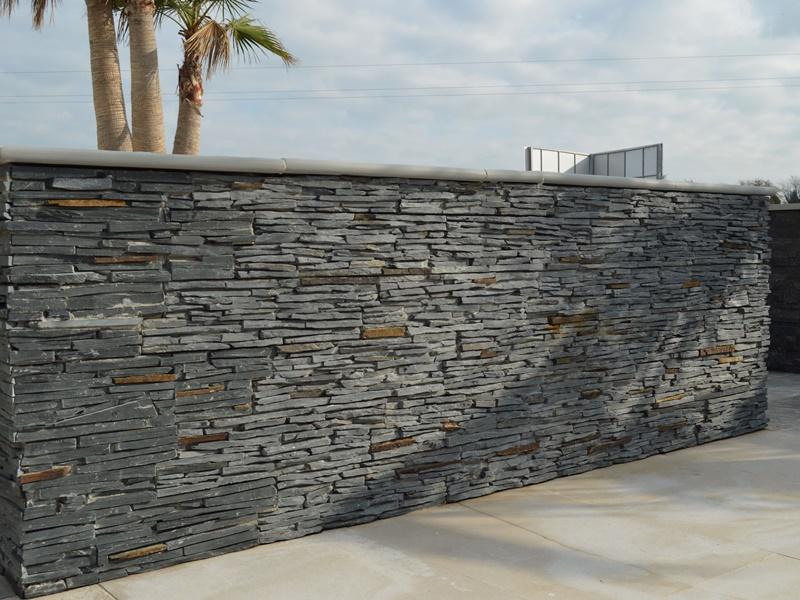 parement pierre naturelle Panel Stone Ardoise Fine Lame (2)