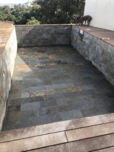 DALLAGE _ ARDOISE FEUILLE AUTOMNE piscine