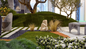 Roche son & lumière 2 faisceaux - décoration de jardin