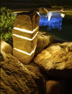 Roche son & lumière 3 faisceaux - décoration de jardin