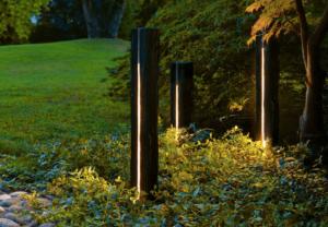 Poteaux lumineux - décoration de jardin