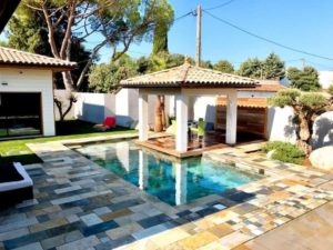 Terrasse dallage pierre de bali