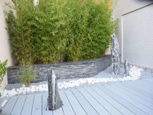Monolithe zèbre - décoration de jardin