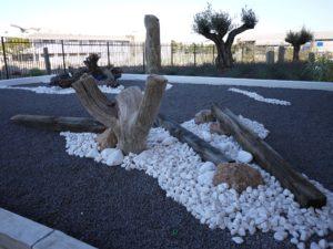 Galet blanc - décoration de jardin
