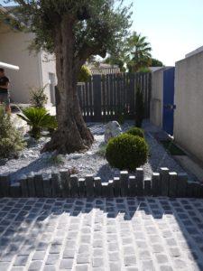 Piquet d'ardoise - décoration de jardin
